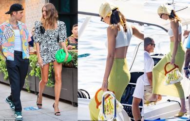 Thời trang hẹn hò của hai nàng siêu mẫu: Hailey - Justin rực rỡ hết nấc, Kendall Jenner diện váy xuyên thấu khoe đôi chân hoàn hảo